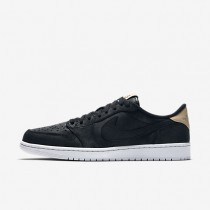 Air Jordan 1 Retro Low OG Premium Mens Shoes Black/White/Vachetta Tan Style: 905136-010