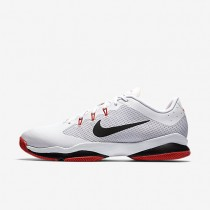 NikeCourt Air Zoom Ultra Mens Shoes White/Max Orange/Black/Black Style: 845007-100