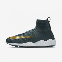 Nike Zoom Mercurial Flyknit Mens Shoes Blue Fox/College Navy/White/Metallic Gold Coin Style: 852616-400