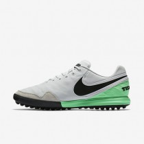 Nike TiempoX Proximo TF Mens Shoes Pure Platinum/Electro Green/Black Style: 843962-004