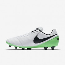 Nike Tiempo Genio II Leather AG-PRO Mens Shoes White/Electro Green/Black Style: 844399-103