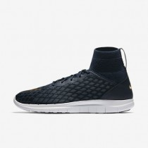 Nike Free Hypervenom III FC Flyknit Mens Shoes College Navy/Blue Fox/Track Red/Metallic Gold Style: 898029-400