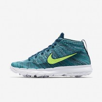Nike Flyknit Chukka Mens Shoes Rio Teal/Midnight Turquoise/Hyper Jade/Volt Style: 819009-300