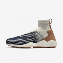 Nike Zoom Mercurial Flyknit Mens Shoes Sail/Pale Grey/Gum Medium Brown/College Navy Style: 844626-101