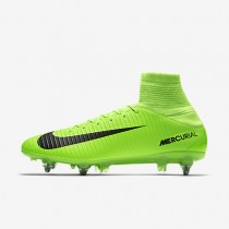 Nike Mercurial Veloce III SG-PRO Mens Shoes Electric Green/Flash Lime/White/Black Style: 852604-303