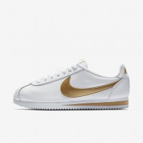 Nike Classic Cortez Womens Shoes White/Metallic Gold Style: 807471-106