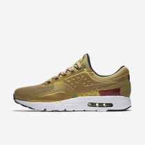 Nike Air Max Zero Unisex Shoes Metallic Gold/White/Black/Varsity Red Style: 789695-700