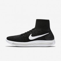 Nike LunarEpic Flyknit Womens Shoes Black/Anthracite/Volt/White Style: 818677-007