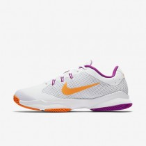 NikeCourt Air Zoom Ultra Clay Womens Shoes White/Pure Platinum/Vivid Purple/Tart Style: 845047-100
