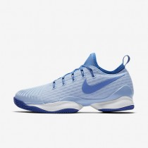 NikeCourt Air Zoom Ultra React Clay Womens Shoes Ice Blue/University Blue/White/Comet Blue Style: 903587-400