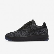 Nike Air Force 1 Flyknit Low Womens Shoes Black/White/Black Style: 820256-007