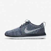 Nike Roshe Two Flyknit Womens Shoes College Navy/Binary Blue/Vapour Green/White Style: 844929-401