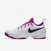NikeCourt Air Zoom Ultra React Womens Shoes White/Vivid Purple/Black Style: 859718-101