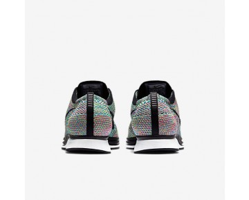 Nike Flyknit Racer Mens Shoes Green Strike/Blue Lagoon/Pink Pow/Black Style: 526628-304