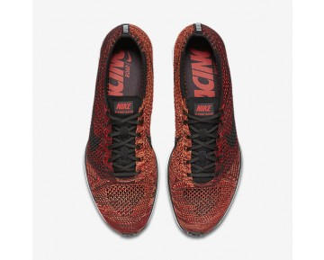 Nike Flyknit Racer Mens Shoes University Red/Bright Mango/Black Style: 526628-608