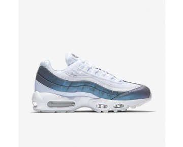 b1cfac5a8af Nike Air Max 95 Premium Mens Shoes Glacier Blue White Stealth Palest Purple