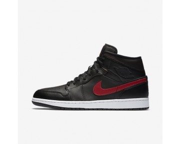 Air Jordan 1 Mid Mens Shoes Black/Team Red/White/Team Red Style: 554724-009