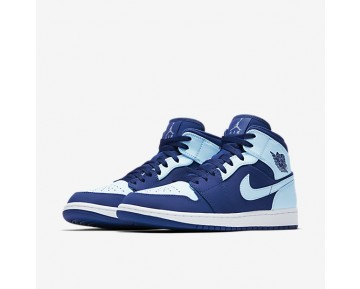 Air Jordan 1 Mid Mens Shoes Team Royal/White/Ice Blue Style: 554724-400