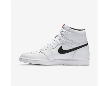 Air Jordan 1 Retro High OG Mens Shoes White/White/Black Style: 555088-102