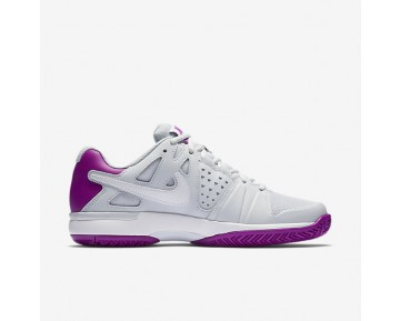 NikeCourt Air Vapor Advantage Womens Shoes Pure Platinum/Vivid Purple/White/White Style: 599364-001