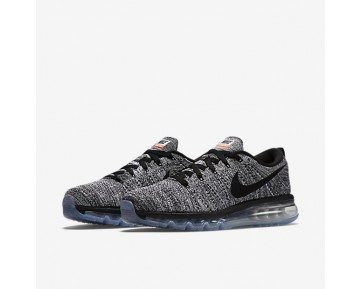 Nike Flyknit Air Max Mens Shoes White/Black/Black Style: 620469-105