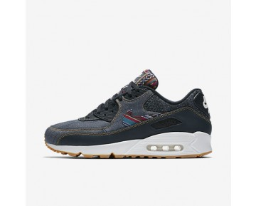Nike Air Max 90 Premium Mens Shoes Dark Obsidian/Summit White/Gum Light Brown/Dark Obsidian Style: 700155-402
