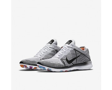 Nike Free TR 5 Flyknit Womens Shoes White/Pure Platinum/Hyper Violet/Black Style: 718785-100