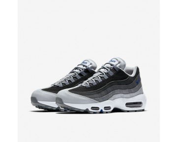 Nike Air Max 95 Essential Mens Shoes Wolf Grey/Black/Dark Grey/Game Royal Style: 749766-018