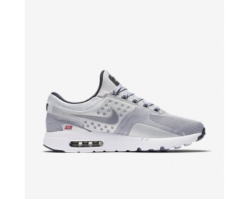 Nike Air Max Zero Unisex Shoes Metallic Silver/University Red/Black/Metallic Silver Style: 789695-002