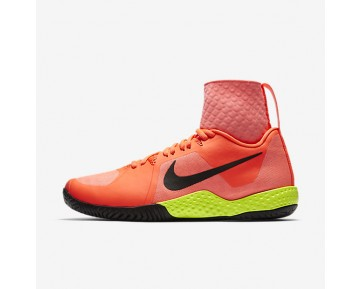 NikeCourt Flare Womens Shoes Lava Glow/Hyper Orange/Volt/Black Style: 810964-600