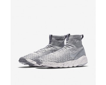 Nike Air Footscape Magista Flyknit Mens Shoes Wolf Grey/Cool Grey/Hyper Orange/Wolf Grey Style: 816560-005