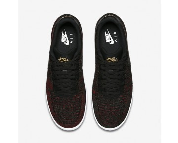 Nike Air Force 1 Flyknit Low Mens Shoes Black/Metallic Gold/White/Black Style: 817419-005