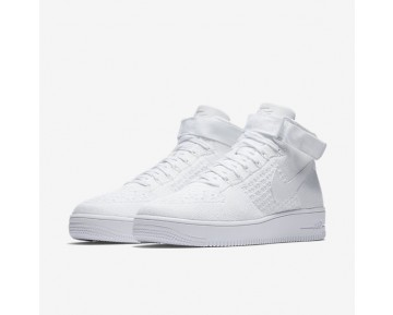 Nike Air Force 1 Ultra Flyknit Mens Shoes White/White/White Style: 817420-102