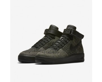 Nike Air Force 1 Ultra Flyknit Mens Shoes Palm Green/White/Black Style: 817420-301