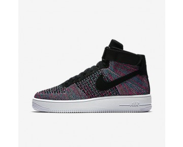 Nike Air Force 1 Ultra Flyknit Mens Shoes Hot Punch/Blue Glow/White/Black Style: 817420-602