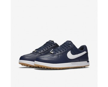 Nike Lunar Force 1 G Mens Shoes Midnight Navy/Gum Yellow/White Style: 818726-400
