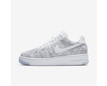 Nike Air Force 1 Flyknit Low Womens Shoes White/Black/White Style: 820256-103