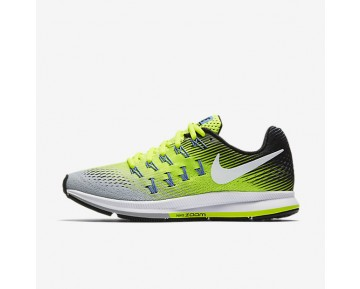 Nike Air Zoom Pegasus 33 Womens Shoes Matte Silver/Volt/Black/White Style: 831356-007