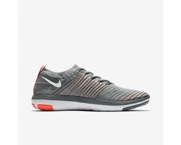 Nike Free Transform Flyknit Womens Shoes Cool Grey/Total Crimson/Black/Pure Platinum Style: 833410-006