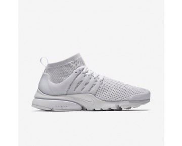 Nike Air Presto Ultra Flyknit Mens Shoes White/White/Total Crimson/White Style: 835570-100