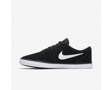 Nike SB Check Solarsoft Mens Shoes Black/White Style: 843895-001