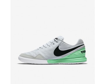 Nike TiempoX Proximo IC Mens Shoes Pure Platinum/Electro Green/Black Style: 843961-004