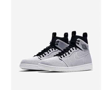Air Jordan 1 Retro Ultra High Mens Shoes White/Black/Pure Platinum/Metallic Gold Coin Style: 844700-132