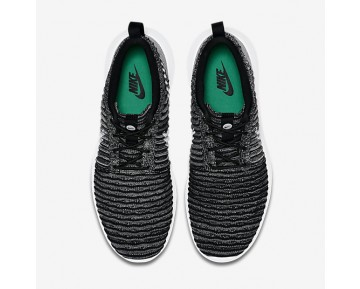 Nike Roshe Two Flyknit Mens Shoes Black/Wolf Grey/Stadium Green/White Style: 844833-007