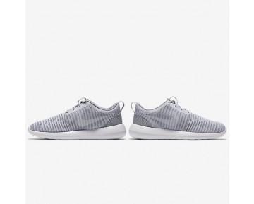 Nike Roshe Two Flyknit Mens Shoes Wolf Grey/Stadium Green/White Style: 844833-008