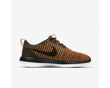 Nike Roshe Two Flyknit Mens Shoes Black/White/Max Orange/Black Style: 844833-009