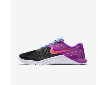 Nike Metcon 3 Womens Shoes Black/Hyper Violet/Chlorine Blue/Racer Pink Style: 849807-002