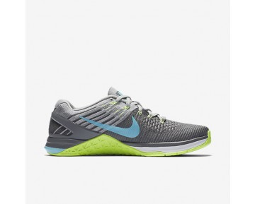 Nike Metcon DSX Flyknit Womens Shoes Dark Grey/Ghost Green/Wolf Grey/Polarised Blue Style: 849809-004