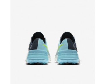 Nike FI Flex Mens Shoes Pure Platinum/Midnight Navy/Vivid Sky/Volt Style: 849960-002