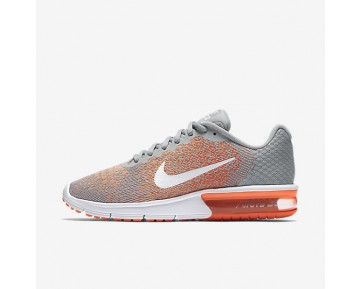 Nike Air Max Sequent 2 Womens Shoes Wolf Grey/Bright Mango/Sunset Glow/White Style: 852465-005